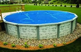 ABOVE GROUND ROUND SOLAR POOL COVERS